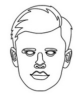 Coloring page Erling Braut Haaland
