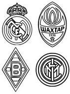 Coloring page Group B: Real Madrid - Chakhtar Donetsk - Inter Milan - Borussia Mönchengladbach
