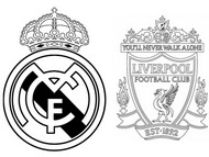 Dibujo para colorear Cuartos de final: Real Madrid - Liverpool