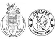 Coloring page Quarter-finals: Porto - Chelsea