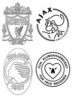 Coloring page Group D: Liverpool - Ajax Amsterdam - Atalanta - FC Midtjylland