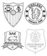 Dibujo para colorear Grupo E: Sevilla - Chelsea - Krasnodar - Rennes
