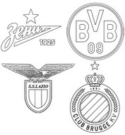 Coloring page Group F: Zenit Saint Petersburg - Borussia Dortmund - Lazio - Club Bruges KV
