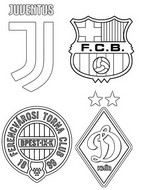 Coloring page Group G: Juventus FC - Barcelona - Dynamo Kyiv - Ferencváros