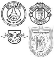 Coloring page Groupe H: Paris Saint-Germain - Manchester United - RB Leipzig -  İstanbul Başakşehir
