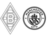 Coloring page Round of 16 - Mönchengladbach (GER) - Manchester City (ENG)