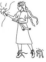 Kolorowanka Fatalna czarownica