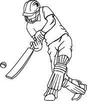 Tulostakaa värityskuvia Kriketti lyöjä