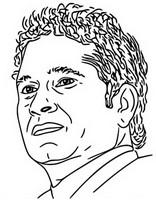 Desenho para colorir Sachin Tendulkar