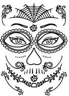 Disegno da colorare Tatuaggio ragno