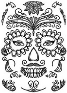 Disegno da colorare Tatuaggio