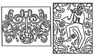 Disegno da colorare Chitarra e sassofono