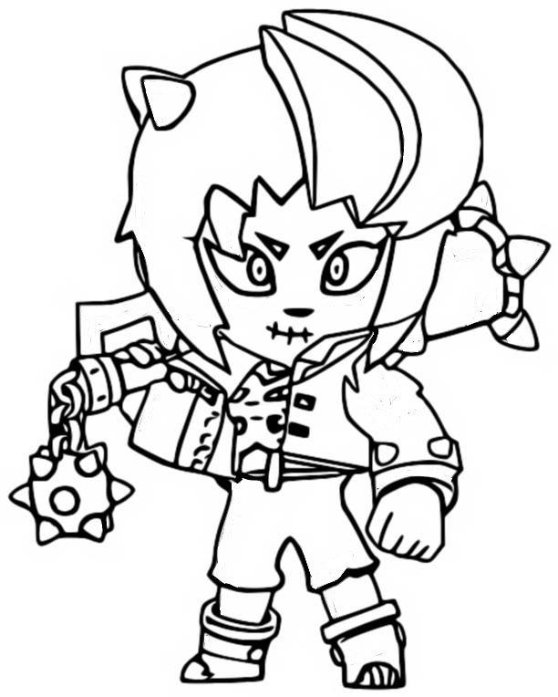 Coloring Page Brawl O Ween Zombibi 5
