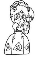 Dibujo para colorear Calavera piper