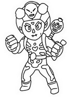 Coloring page Brawloween Rosa