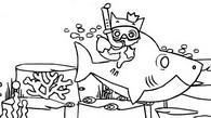 Malebøger Baby Shark og Pinkfong