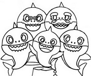 Coloring page Baby Shark's family