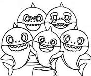 Malebøger Baby Shark familie