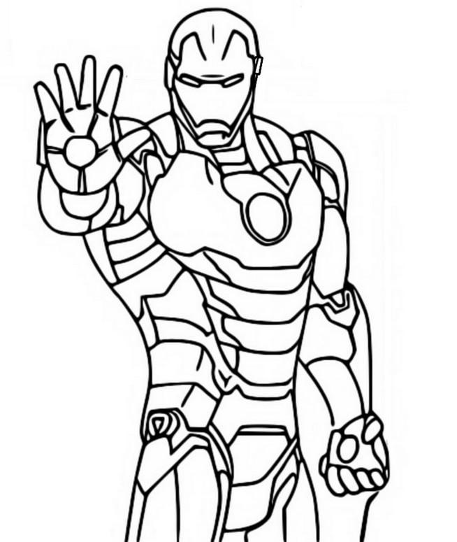 Kolorowanka Fortnite Marvel Iron Man 11