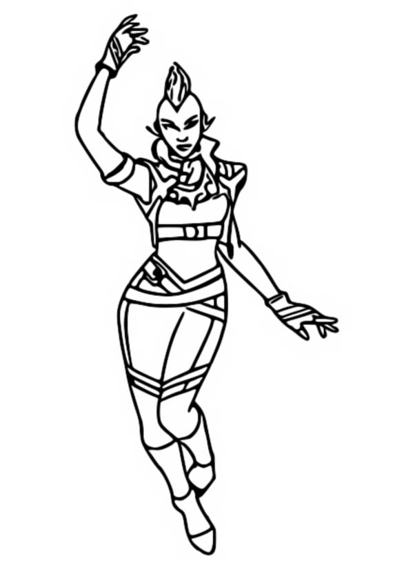 Coloring Page Fortnite Marvel Storm 6
