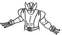 Kleurplaat Wolverine