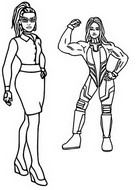 Coloring page Jennifer Walters and She-Hulk