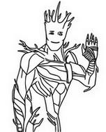 ぬりえ Groot