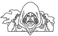 Coloring page Doctor Doom