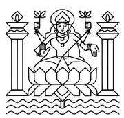 Malebøger Gudinden Lakshmi