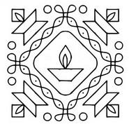 Malebøger Diya (olie lampe)