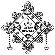 Kleurplaat Gelukkige Diwali