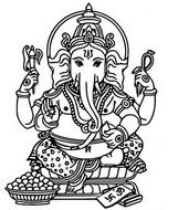 Tulostakaa värityskuvia Ganesh