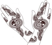 Coloring page Mehandi