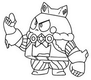 Coloring page King Lou