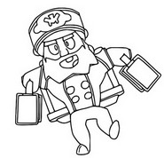 Coloring page Bellhop Mike