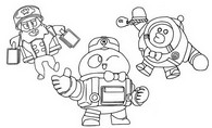 Coloring page Lou, Bellhop Mike and Cony Max
