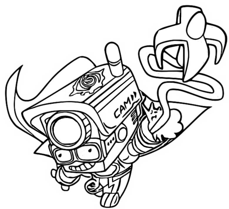 Dibujo para colorear Superthings Secret Spies - Superzings ...