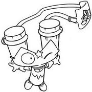 Dibujo para colorear Slingstrike 447 Action Squad