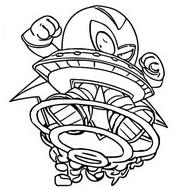 Malvorlagen Alien Bandit 334 Super rare