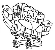Coloring page Powerheat 335 Sky Runners