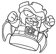 Coloring page Top Power 374 Black Comets