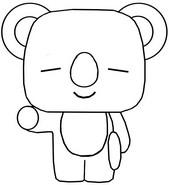 Coloring page Koya