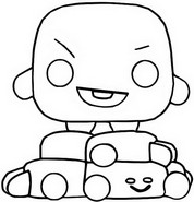 Coloring page Shooky
