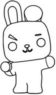Coloring page Cooky