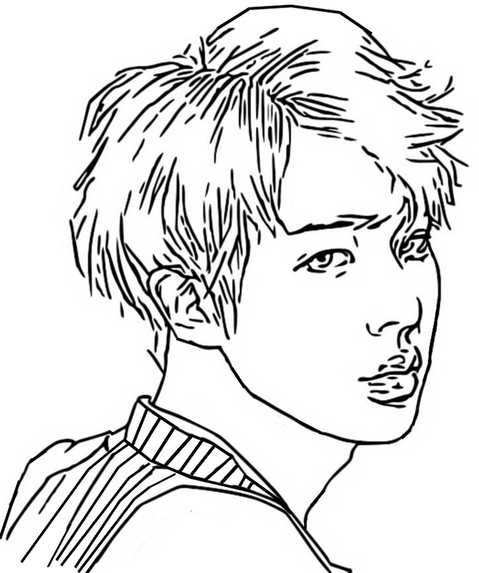 Coloring Page Bts Jin 3