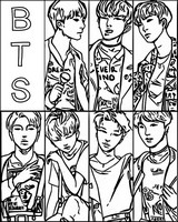 Coloring page South Korean group