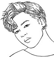 Coloring page Jimin