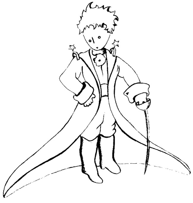 Coloring page The Little Prince by Saint-Exupery