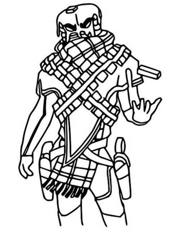 Coloring Page Fortnite Chapter 2 Season 5 : Mancake 6