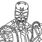 Fargelegging Tegninger Terminator T-800